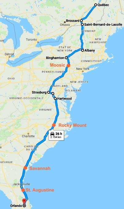 063 Floride Carte Route Aller