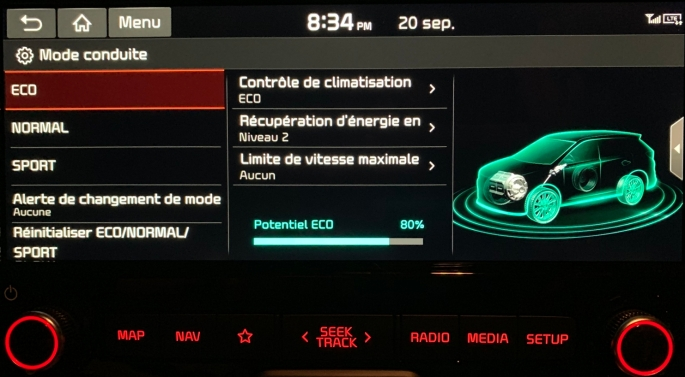 083 KiaSoul Screen mode