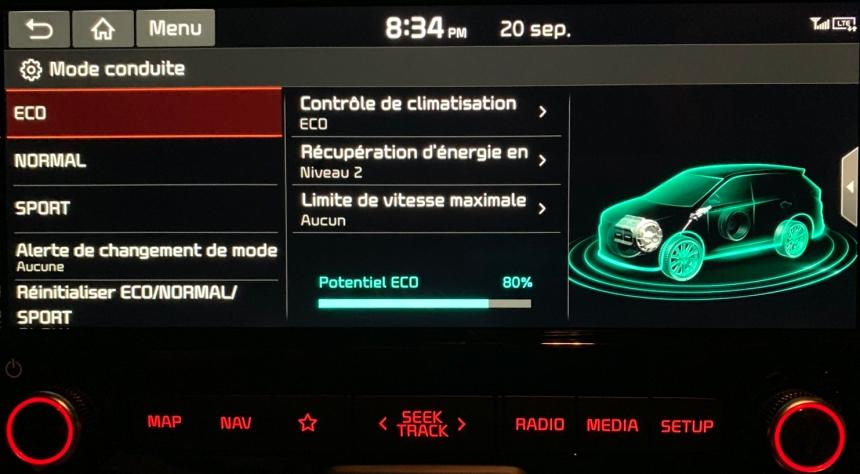 083 KiaSoul Screen mode